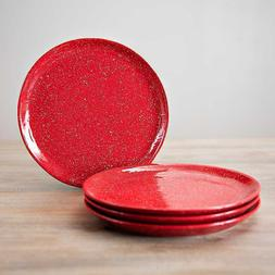 Red Speckle Simple Things Dinner Plates, Set of 4 Crafted of