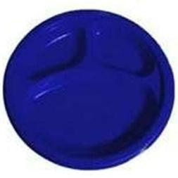 Amscan Reusable Round Divided Party Plates , Bright Royal Bl