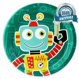 BirthdayExpress Robot Science Dinner Plates