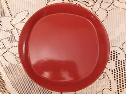 "Rachael Ray Round & Square RED Set of 4 - 11"" Dinner Plates"