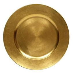 Round Charger Dinner Plates, Gold 13 inch, Set of 1,2,4,6, o
