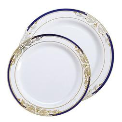 Posh Party Supplies | Round White Disposable Plastic Dinnerw