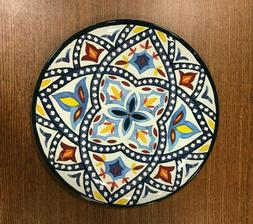 "Safi Moroccan Melamine Dinner Plates 11"" Blue/White Set of 8"