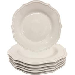 scalloped porcelain dinner plates