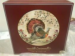 Pottery Barn set 4 Botanical Harvest TURKEY dinner plates ho