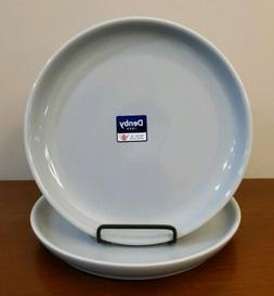 """DENBY Set of 2 INTRO 10"""" Coupe DINNER Plates Stoneware Soft"""