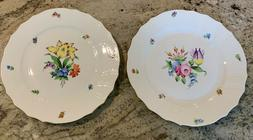 Set Of 2 Herend PRINTEMPS Dinner Plates #1524  Never Used Pe