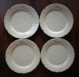 SET of 4 Tommy Bahama 100% MELAMINE Dinner Plates Cracked Iv