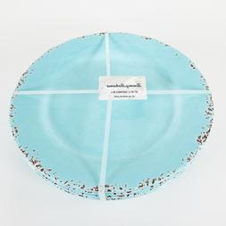 "Set of 4 - Tommy Bahama 11"" Melamine Dinner Plates Turquoise"