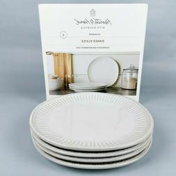 "Set of 4 - Hearth and Hand Magnolia - Debossed 11"" Cream Sto"