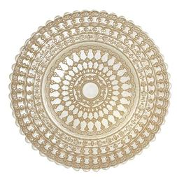 """Set of 4 Lace Glass Dining Charger Plates 13"""" Dinner Kitchen"""
