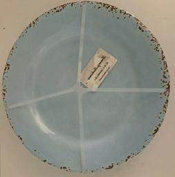 "Tommy Bahama Set of 4 Melamine 11"" Dinner Plates Rustic Lt B"