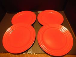 "Set of 4 NEW WITH STICKERS Rachel Ray DOUBLE RIDGE RED 11"" D"