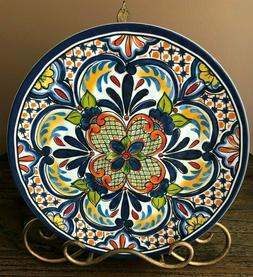 PALM RESTAURANT Set of 4 SPANISH STYLE Melamine DINNER PLATE