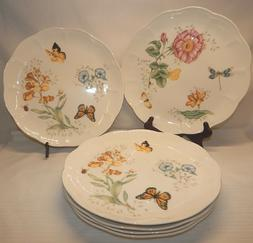 Set of 6 Lenox BUTTERFLY MEADOW  Dinner Plates, EUC