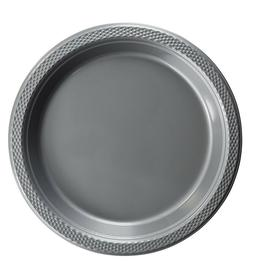 Silver Plastic Disposable Plates -Luncheon Dinner Party Prem