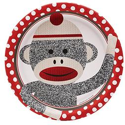 Sock Monkey Party Supplies - Dinner Plates