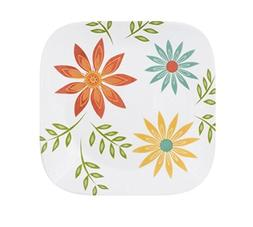 "Corelle Square 10.25"" Dinner Plate Happy Days, Set of 6"