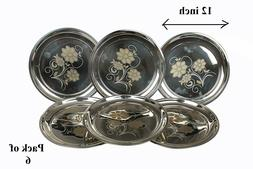 stainless steel dinner plates round plates set