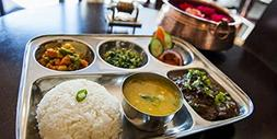 Stainless Steel Rectangular Thali,Steel Five Compartment Rec