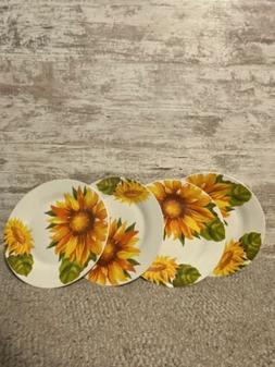 Sunflower Dinnerware Royal Norfolk Home Collection Plates  S