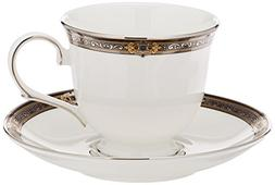 Lenox Vintage Jewel Tea Cup and Saucer, White