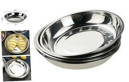 Teyyvn 4-Pack Stainless Steel Dinner Plates Dishes, Round Ca
