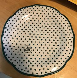 The Pioneer Woman Set Of 4 Dinner Plates Green Polka Dots Ha