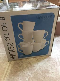 Thomson Pottery Basic White 8 Piece Dinner Mugs