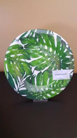 Tommy Bahama Tropical Palm Leaves Melamine Dinner Plates Set