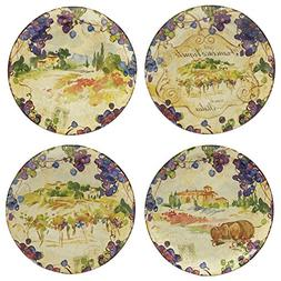"Certified International Vino Dinner Plate 10.75"", Set of 4 A"