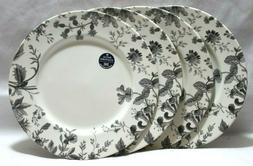 Royal Stafford Watercolor Gray Floral Porcelain Dinner Plate