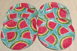 watermelon 11 round dinner plates set of