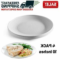 White Melamine Dinner Plate Dishes Party Restaurant Outdoor