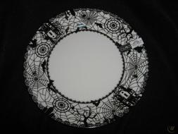 CIROA Wicked Wiccan Lace Dinner Plates- Set of 4 - New in Bo
