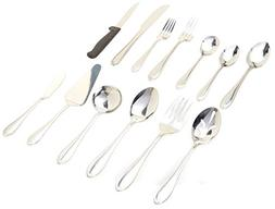 Gibson Home 49335.55 Wilmington Plus 55 Piece Flatware Set,