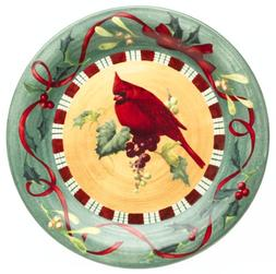 Lenox Winter Greetings Everyday Stoneware Cardinal Dinner Pl