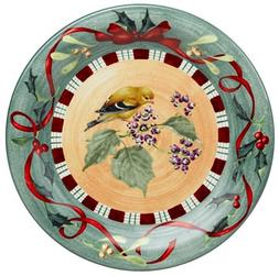 Lenox Winter Greetings Everyday Stoneware Goldfinch Dinner P