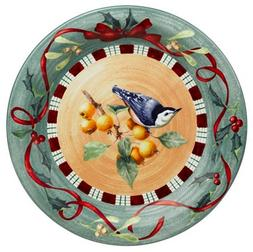 Lenox Winter Greetings Everyday Stoneware Nuthatch Dinner Pl