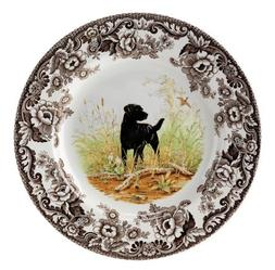 Spode Woodland Hunting Dogs Black Labrador Dinner Plate by S