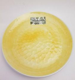 """x6 TOMMY BAHAMA Yellow MELAMINE Watercolor Dinner Plates 11"""""""