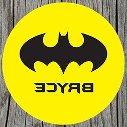 Yellow Bat Signal Personalized Melamine Plate
