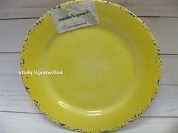 TOMMY BAHAMA Yellow Rustic Crackle MELAMINE Dinner Plates 11